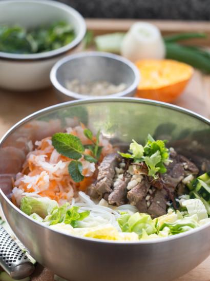 Bun bo xao, asian food, foodies, chef, cook, home chef, madrid, rosa veloso