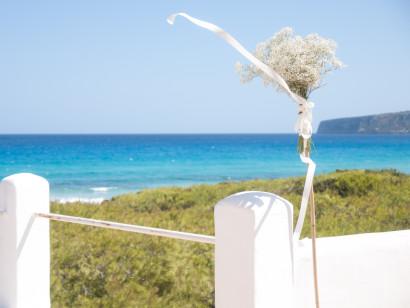 bouquet, wedding, portrait, beach, Formentera, rosa veloso