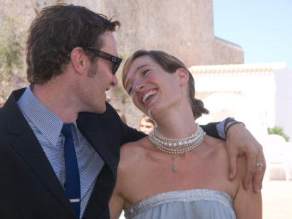 Bride & Groom, wedding, portrait, beach, Formentera, rosa veloso