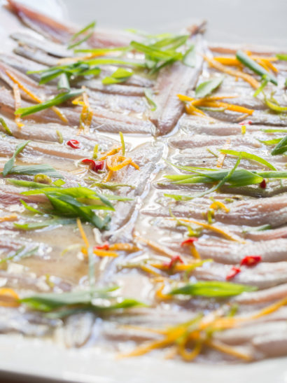 anchovies thai ceviche, asian food, fish, seafood, raw, foodies, chef, cook, home chef, madrid, rosa veloso