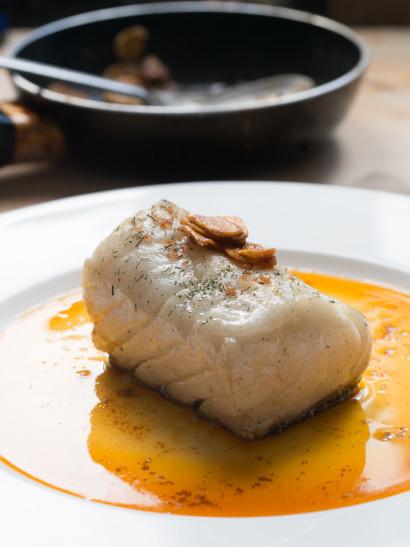 Bacalao gallega, Galicia style cod, paprika, garlic, seafood, fish, Spanish food, comida española, foodies, chef, cook, home chef, madrid, rosa veloso
