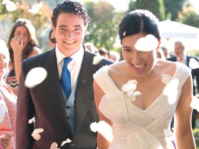 Bride & Groom, wedding, portrait, fancy, garden, Galicia, rosa veloso