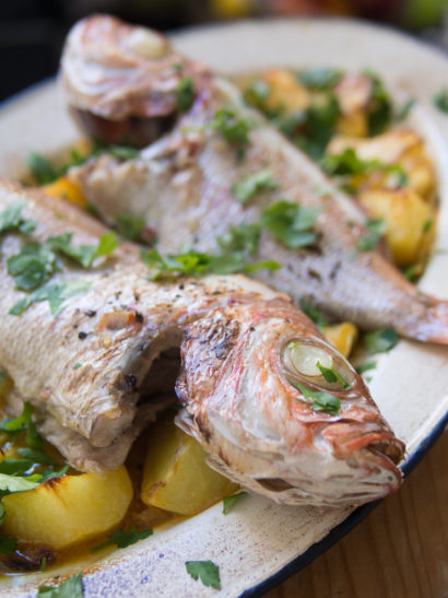 roasted red mullet, seafood, fish, foodies, chef, cook, home chef, madrid, rosa veloso