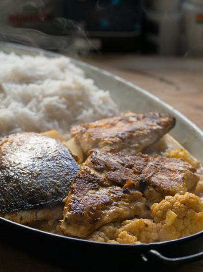 tikka Masala fish, Cauliflower, indian food, foodies, chef, cook, home chef, madrid, rosa veloso