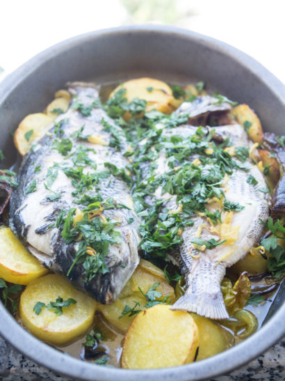 seafood, whole roasted Gilthead baked, sheepshead, foodies, food, chef, cook, home chef, oven, mediterranean, madrid, rosa veloso